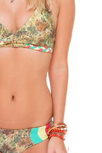 WORLD ON FIRE - Cross Over Halter Top & Tri Color Full Bottom • Multicolor