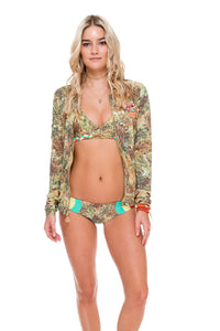 WORLD ON FIRE - Bomber Jacket & Tri Color Full Bottom • Multicolor (874518544428)