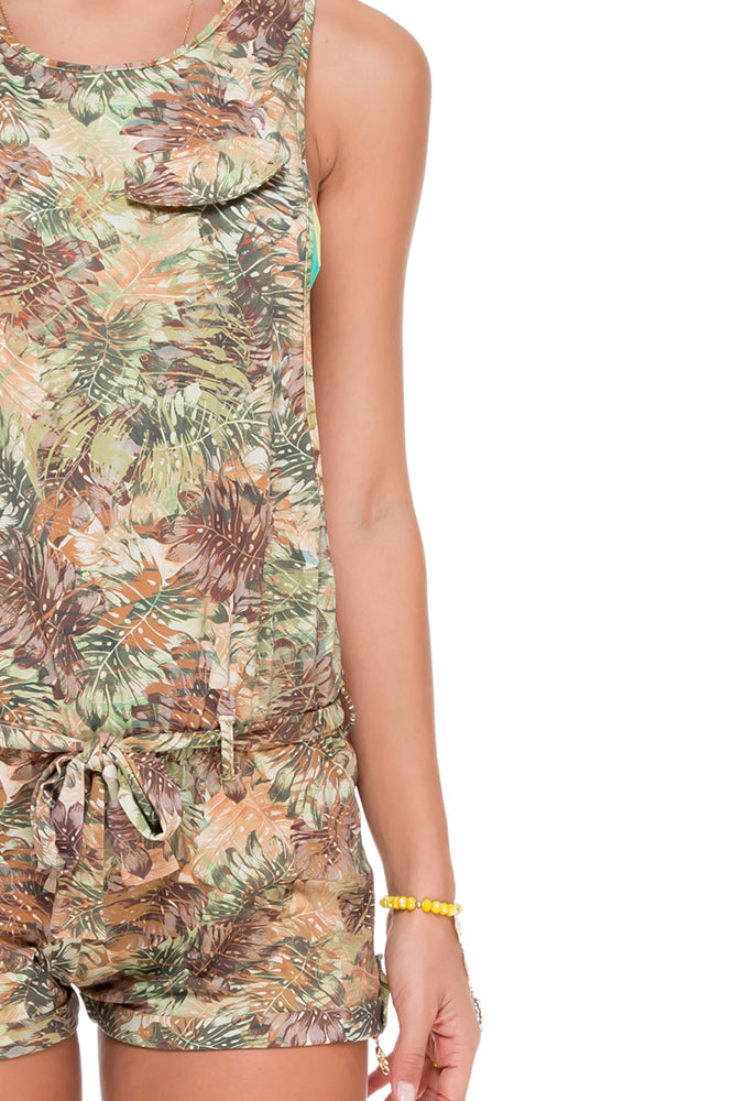 WORLD ON FIRE - Peace Out Romper • Multicolor