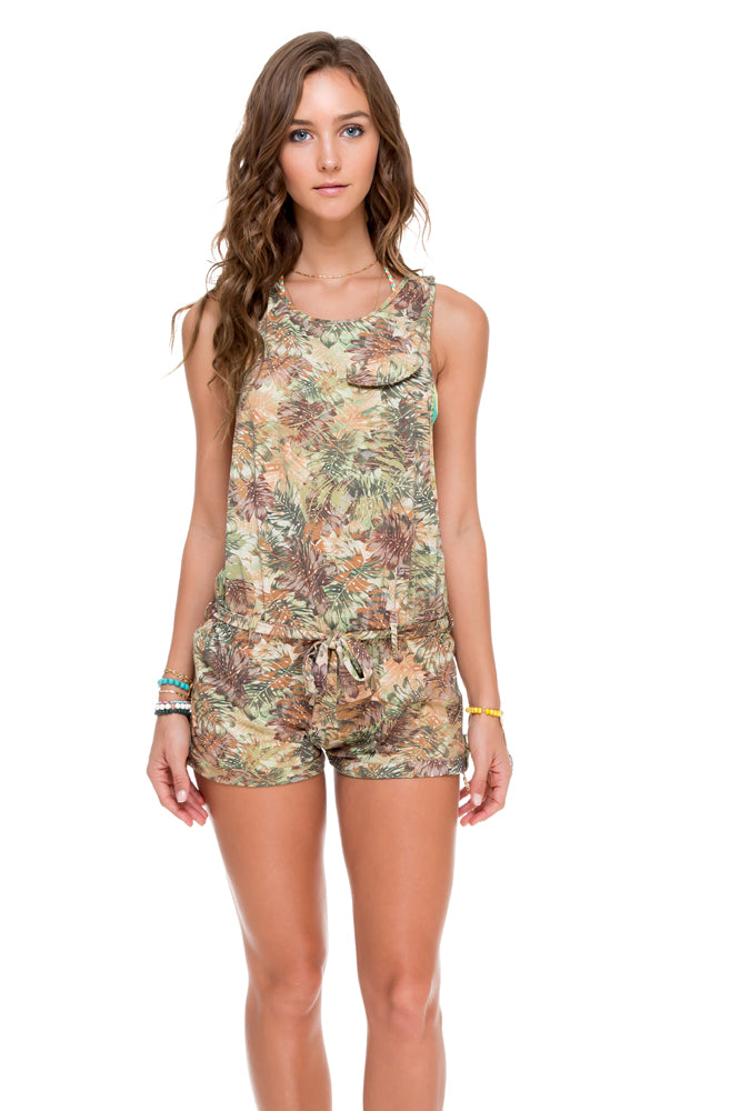WORLD ON FIRE - Peace Out Romper • Multicolor (874519363628)