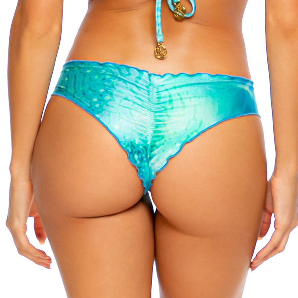 OCEAN SHIMMER - Seamless Wavy Ruched Back Bottom