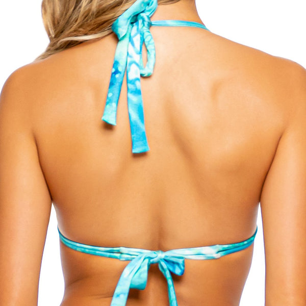 OCEAN SHIMMER - Triangle Halter Top