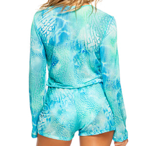 GORGEOUS CHAOS - Deep Plunge Romper