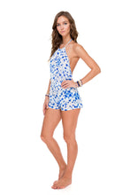 BEAUTIFUL MESS - Keyhole Plunge Romper • Multicolor