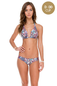 REBELDIA - Triangle Halter Top & Tab Sides Full Bottom • Multicolor