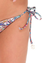 REBELDIA - Triangle Top & Wavey Ruched Back Brazilian Tie Side Bottom • Multicolor