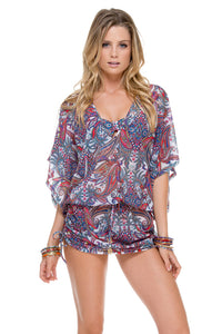REBELDIA - Cabana V Neck Dress • Multicolor
