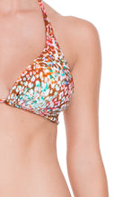 UNTAMEABLE - Triangle Halter Top & Multi Strings Full Bottom • Multicolor