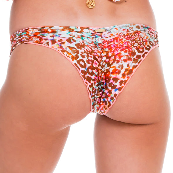 UNTAMEABLE - Strappy Brazilian Ruched Back Bottom