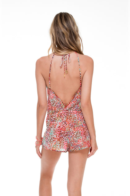 UNTAMEABLE - Backless Romper • Multicolor