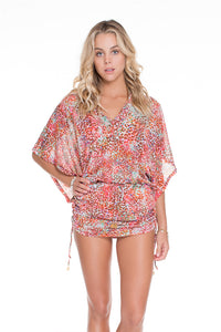 UNTAMEABLE - Cabana V Neck Dress • Multicolor
