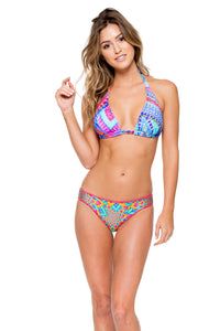 STAR GIRL - Triangle Halter Top & Full Bottom • Multicolor