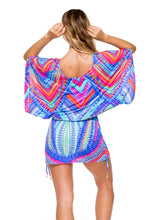 STAR GIRL - Cabana V Neck Dress • Multicolor