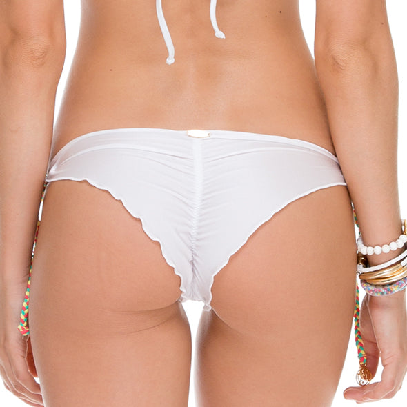 ATREVIDA - Wavey Ruched Back Brazilian Tie Side Bottom