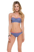 ATREVIDA - Multicolor Crochet Underwire Bandeau Top & Multicolor Crochet Full Bottom • Blue Moon
