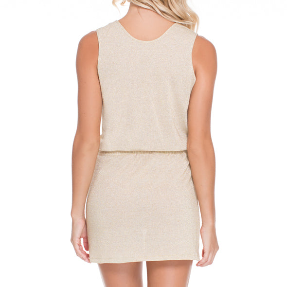 GOLDEN SUGAR - Criss Cross Plunge Dress