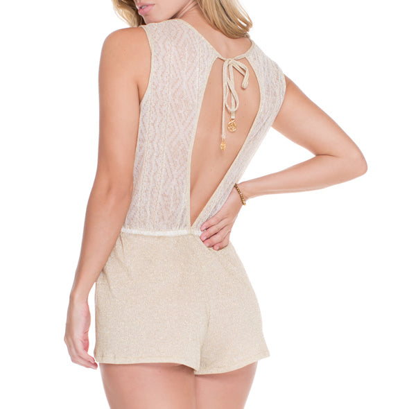 GOLDEN SUGAR - Scalloped Romper