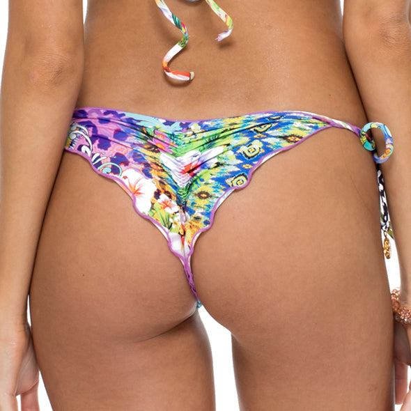 GUAJIRA SUPERSTAR - Wavey Ruched Back Brazilian Tie Side Bottom