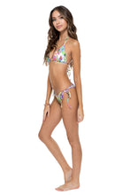 GUAJIRA SUPERSTAR - Triangle Top & Wavey Ruched Back Brazilian Tie Side Bottom • Multicolor