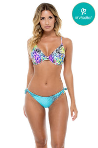 GUAJIRA SUPERSTAR - Underwire Adjustable Top & Cayo Hueso Moderate Bottom • Multicolor