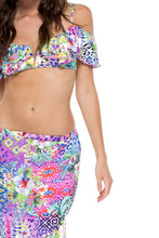 GUAJIRA SUPERSTAR - V Ruffle Top & Brunchin Skirt • Multicolor