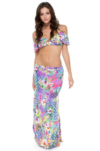GUAJIRA SUPERSTAR - V Ruffle Top & Brunchin Skirt • Multicolor (874557866028)