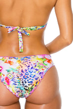 GUAJIRA SUPERSTAR - Triangle Halter Top & Full Ruched Back Bottom • Multicolor