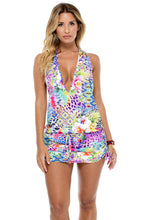 GUAJIRA SUPERSTAR - T Back Mini Dress • Multicolor