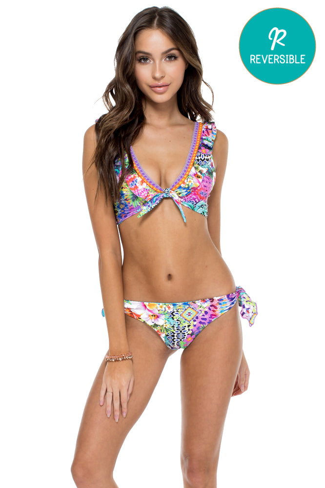 GUAJIRA SUPERSTAR - Floridita Top & Cayo Coco Brazilian Bottom • Multicolor