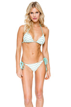 EL MALECON - Triangle Top & Wavey Ruched Back Brazilian Tie Side Bottom • Espuma De Mar