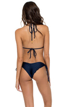 EL MALECON - Triangle Top & Wavey Ruched Back Brazilian Tie Side Bottom • Marino