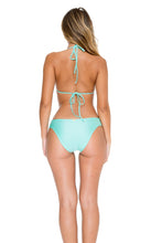 EL MALECON - Molded Push Up Bandeau Halter Top & Braided Side Full Bottom • Espuma De Mar