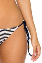 EL MALECON - Triangle Halter Top & Wavey Ruched Back Full Tie Side Bottom • Marino