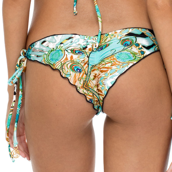 GUANTANAMERA - Wavey Ruched Back Brazilian Tie Side Bottom