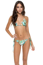 GUANTANAMERA - Triangle Top & Wavey Ruched Back Brazilian Tie Side Bottom • Multicolor