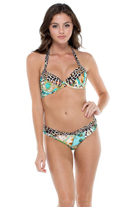 GUANTANAMERA - Carmen Top & Luna Banded Reversible Moderate Bottom • Multicolor
