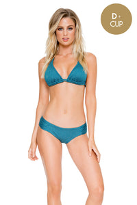 HAVANA NIGHTS - Triangle Halter Top & Scrunch Panty Full Bottom • Miramar