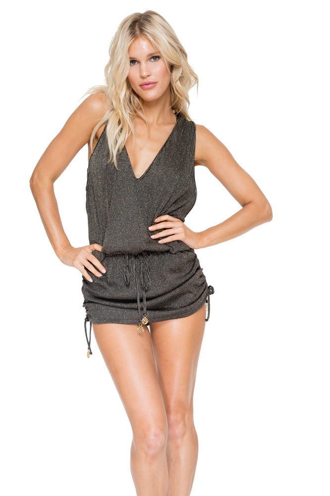 HAVANA NIGHTS - T Back Mini Dress • Black (874560716844)