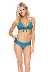 HAVANA NIGHTS - Lola Halter Top & Scrunch Ruched Back Brazilian Bottom • Miramar