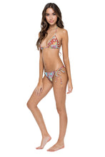 YEMAYA - Wavey Triangle Top & Wavey Ruched Back Brazilian Tie Side Bottom • Multicolor