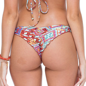 YEMAYA - Strappy Brazilian Ruched Back Bottom