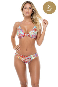 YEMAYA - Underwire Adjustable Top & Seamless Full Ruched Back Bottom • Multicolor