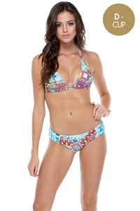 YEMAYA - Triangle Halter Top & Scrunch Panty Full Bottom • Multicolor