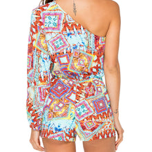 YEMAYA - One Shoulder Split Sleeve Romper
