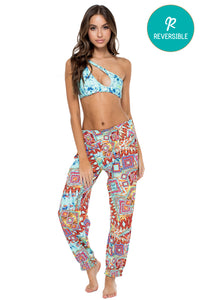 YEMAYA - Alicia Bandeau Top & Smocked Gipsy Pant • Multicolor