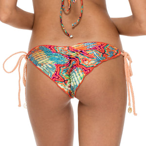 LA BELLA DE CUBA - Wavey Ruched Back Brazilian Tie Side Bottom