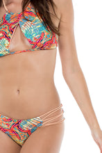 LA BELLA DE CUBA - Isabel Halter Top & Caribe Moderate Bottom • Multicolor