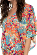LA BELLA DE CUBA - Cabana V Neck Dress • Multicolor