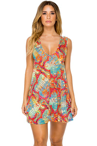 LA BELLA DE CUBA - Santa Cruz Dress • Multicolor