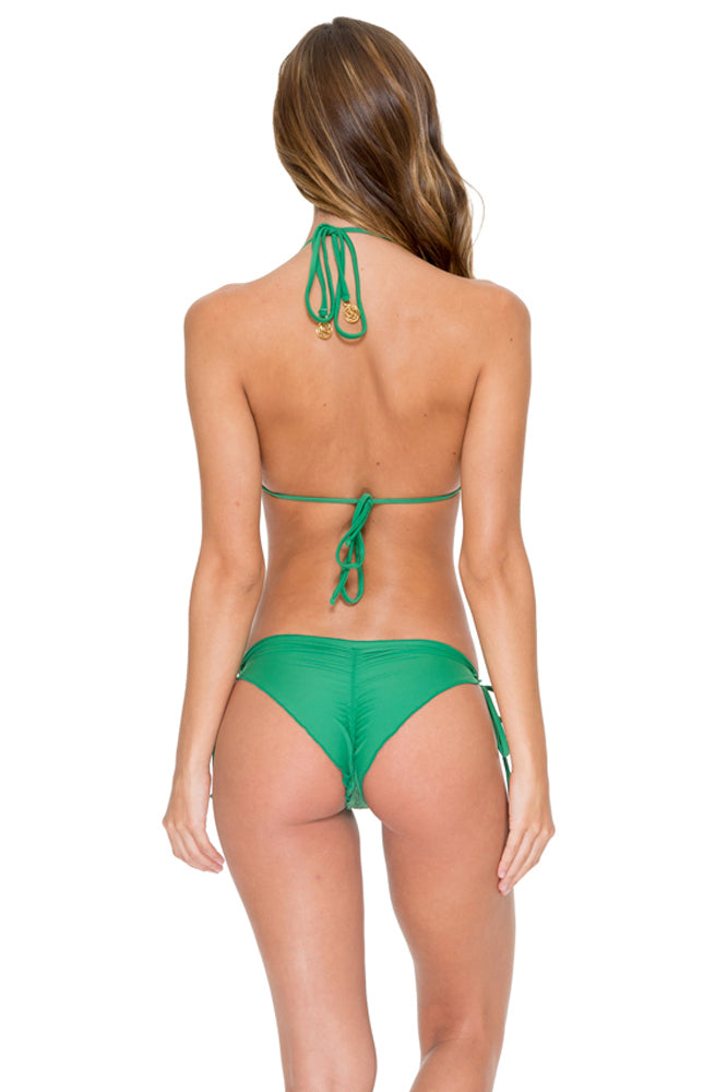EL CARNAVAL - Triangle Top & Wavey Ruched Back Brazilian Tie Side Bottom • Palma